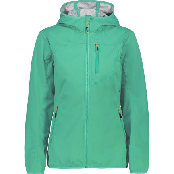 Damen Light Softshell Hoodie Jacke aquamint 34